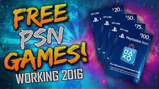 """FREE PS4 GAMES! - How To Get """"FREE GAMES on PS4"""" (UNLIMITED FREE PSN CODES) - Working 2016"""