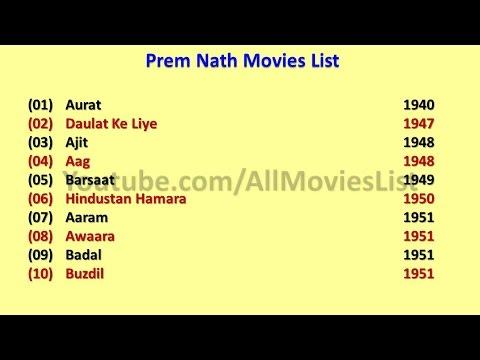 Prem Nath Movies List