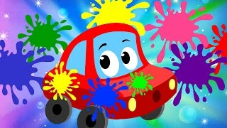 Colors Song | Little Red Car | Cars Nursery Rhymes