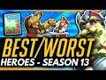 Overwatch | BEST And WORST Heroes For SEASON 13 - Meta Breakdown