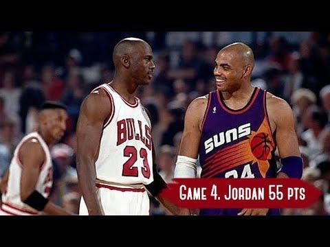NBA Finals 1993. Phoenix Suns vs Chicago Bulls Game Highlights Game 4 Jordan 55 HD 720p 60fps