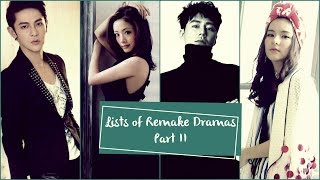 Lists of Remake Dramas | Part II