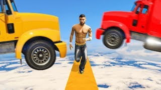 RUNNERS vs. TRUCKS! (GTA 5 Funny Moments)
