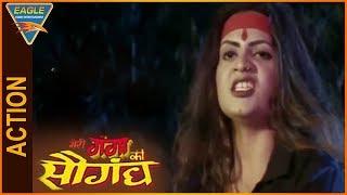 Meri Ganga Ki Saugandh Hindi Movie || Sapna Powerful Action Scene || Eagle Entertainment Official