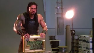 Go behind the scenes of Roman Reigns' WWE Money in the Bank video shoot