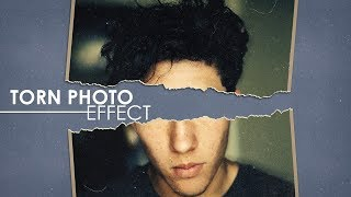 Torn Photo Effect - Photoshop Tutorial