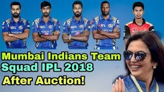 IPL 2018: Mumbai Indians Team Squad IPL 2018 After Auction   Cricket News Today