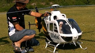 EC-135 GIGANTIC SCALE RC ELECTRIC MODEL HELICOPTER FLIGHT DEMO / Teampilot Vario Francis Paduwat