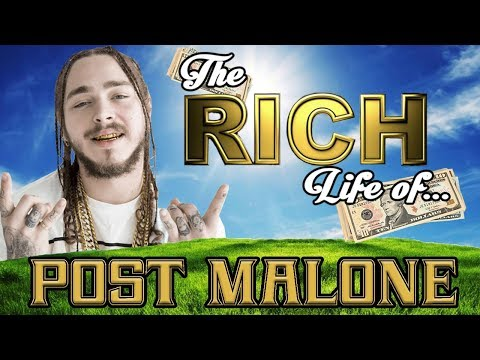 POST MALONE The RICH Life 2017 FORBES Net Worth Cars House Tattoos & Popeyes