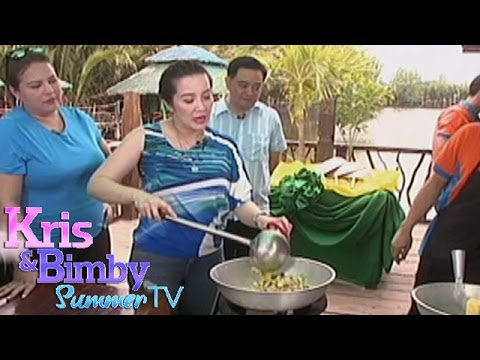 Kris learns to cook Bangus Sisig