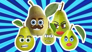 Pear Finger Family Song Nursery Rhymes for Kids | Learning Fruits