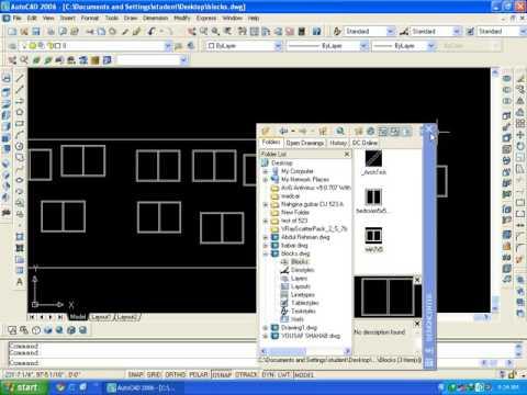 AutoCAD training online :8.5 design Center block creation in hindi/Urdu