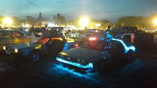 US Car Convention Dresden 2017, Delorean Zeitmaschine DocBrown&Marty rocken Platz & Sunday Cruise