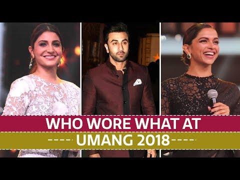 Deepika Padukone, Shah Rukh Khan, Anushka Sharma: Who wore what at Umang 2018