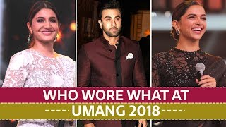 Deepika Padukone, Shah Rukh Khan, Anushka Sharma: Who wore what at Umang 2018