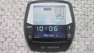 BOSCH Intuvia Zeit einstellung wie geht das E-Bike change Time settings menu how does it work