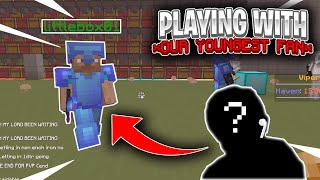 YOUNGEST FAN PLAYS HCF WITH US (NEW RECRUIT?) | Minecraft HCF