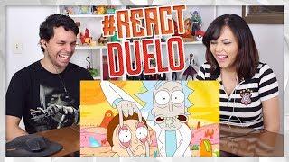 REACT Rick e Morty VS. Phineas e Ferb | Duelo de Titãs (7 Minutoz)