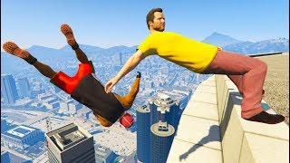 GTA 5 CRAZY Jumps/Falls Compilation #6 (Grand Theft Auto V Gameplay Moments)