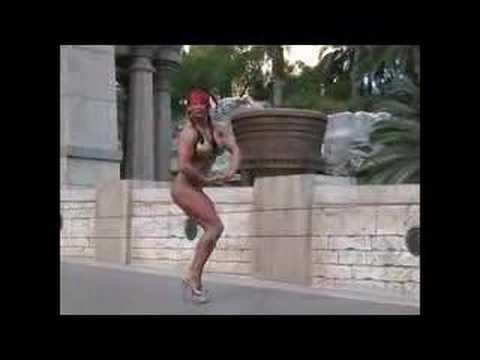 Nicole Pfuetzenreuter hot posing in las vegas
