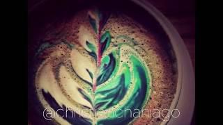 Rainbow latte skills barista