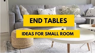 65+ Best Small Space End Tables Ideas for Small Room