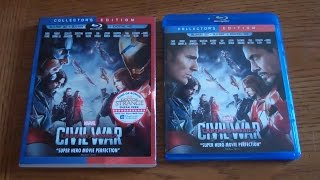 CAPTAIN AMERICA Civil War - Unboxing the Blu-ray 3D + Bluray + Digital HD Film