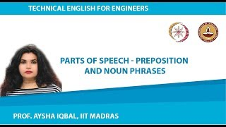 Lecture 03 - Parts of Speech: Preposition and Noun Phrases