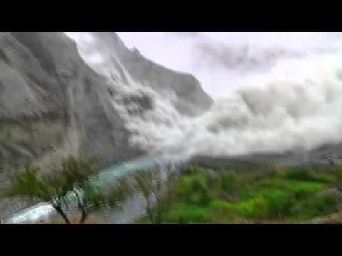Pakistan landslide after 7.7M earthquake