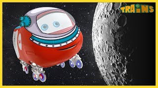 TRAINS Cartoon / New Episode / Going to the moon / Trains Cartoon Collection for Children