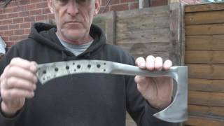 Forging a steel shafted axe