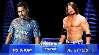 M.S. Dhoni VS AJ Styles - Extreme Rules Match