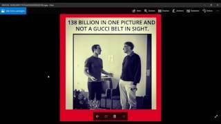 140 Milliarden DOLLAR Reich und nicht 1 GUCCI Gürtel zu sehen ! Facebook,instagram !