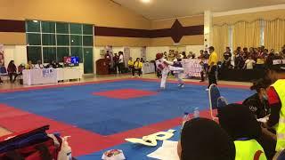 Taekwondo Sukipt 2018- Goh Zhi Lin vs Rusyakinda