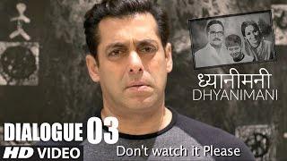 Salman Khan on DHYANIMANI || DHYANIMANI (ध्यानीमनी)  Marathi Movie - Dialogue Promo 3
