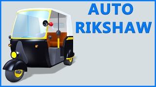 Auto Rickshaw Video   Tuk Tuk   Cartoon Animation   Kids Rhymes & Poems