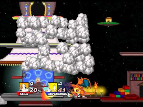 Super Smash Flash 2 Demo v0.7 Tails vs Sonic