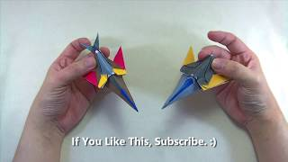How to make a Papercraft, Origami Transformer Spaceship (requires 1 straight cut)