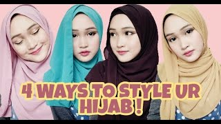 4 Ways to Style Ur Hijab !