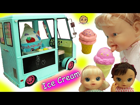 Babysitting 3 Magical Scoops Baby Alive Babies Eat From Doll Ice Cream Truck