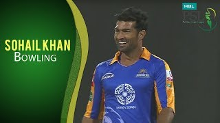 PSL 2017 Match 13: Peshawar Zalmi vs Karachi Kings - Sohail Khan Bowling
