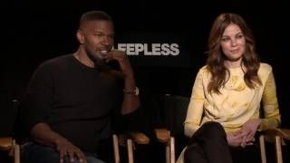 Jamie Foxx and Michelle Monaghan talk about being a parent and their fave foreign film.