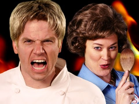 Gordon Ramsay vs Julia Child. Epic Rap Battles of History Season 5