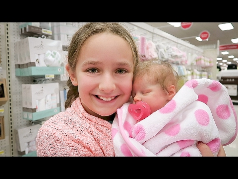 Shopping with Reborn Baby Doll Olivia for Newborn Baby Supplies Plus Shopping Haul