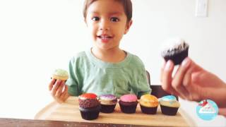 LEARN COLORS WITH CAGE FREE EGG CUPCAKES/ Liam's World Interactive Learning