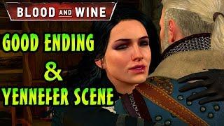 The Witcher 3 Blood And Wine - GOOD ENDING + YENNEFER BONUS SCENE & Final Boss Battle PC 1080p 60FPS
