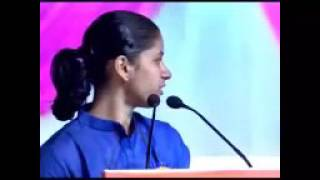 Motivational speech from  telugu girl