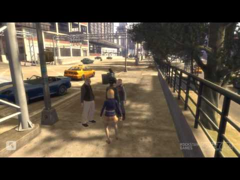 GTA 4 Accidents crashes some shootings