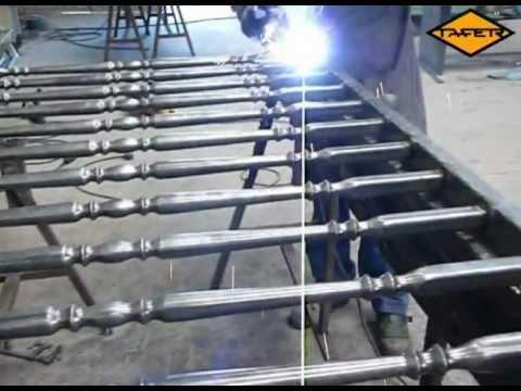 Videotutorial Como hacer una baranda de hierro con tubos ornamentales tafer