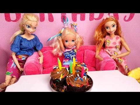 Elsa s BIRTHDAY Special guests Elsa & Anna toddlers party pinata Barbie cake gifts